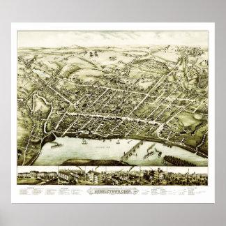 Karte von Middletown Connecticut ab 1877 Poster