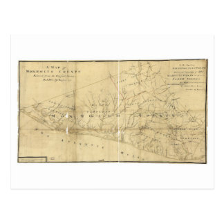 Karte von Monmouth County New-Jersey (1781)