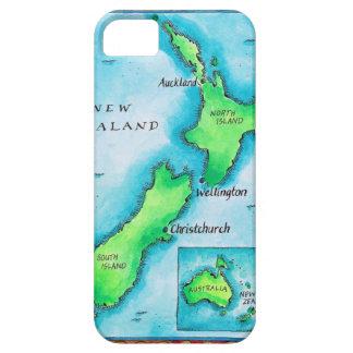 Karte von Neuseeland 2 iPhone 5 Etui