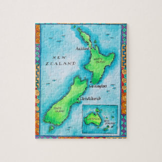 Karte von Neuseeland 2 Puzzles