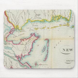 Karte von New Orleans und von angrenzendem Land Mousepads