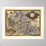 Karte von Nordasien durch Abraham Ortelius 1603 Posterdruck