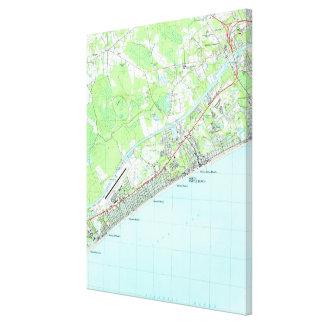 Karte von Nordmyrtle beach South Carolina (1990) Leinwanddruck