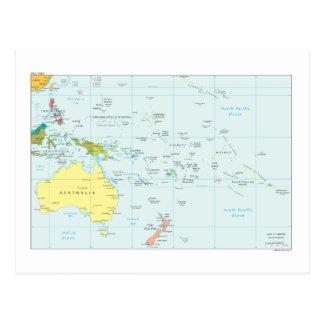 Karte von Ozeanien