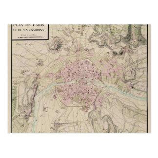 Karte von Paris und von seinem Umgeben