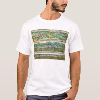 Karte von Parma, von Siena, von Palermo und von T-Shirt