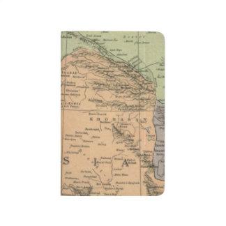 Karte von Persien vor 1917 Taschennotizbuch