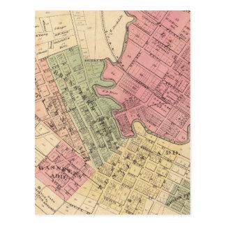 Karte von Petaluma Stadt 1877