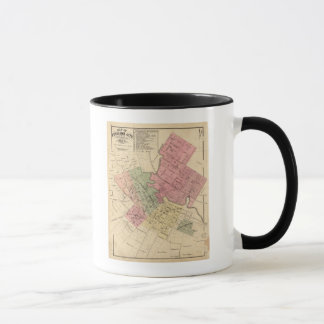 Karte von Petaluma Stadt 1877 Tasse