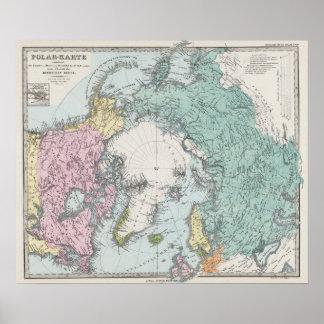 Karte von polaren Meeren