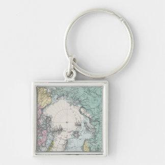 Karte von polaren Meeren Schlüsselanhänger
