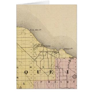 Karte von Presque Isle County, Michigan