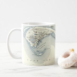 Karte von Provincetown Cape Cod Massachusetts Kaffeetasse