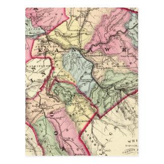 Karte von Putnam, Kanawha, Boone Landkreise