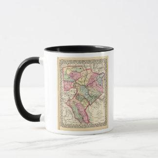 Karte von Putnam, Kanawha, Boone Landkreise Tasse