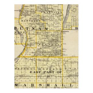 Karte von Putnam und Ostteil Marshall-Landkreise