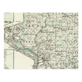 Karte von Randolph County, rote Knospe und von