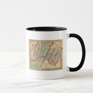 Karte von Randolph, Pendleton-Landkreise Tasse