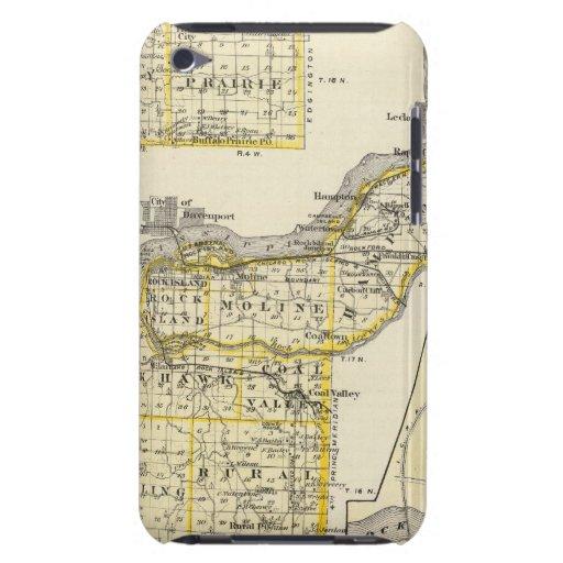 Karte von Rock Island County und von Dixon iPod Case-Mate Hülle