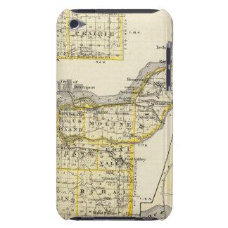 Karte von Rock Island County und von Dixon iPod Touch Case-Mate Hülle