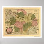 Karte von Russland und von Sibirien 1706