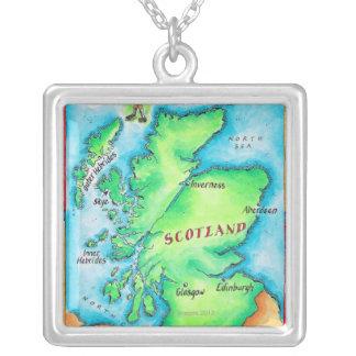 Karte von Schottland Versilberte Kette