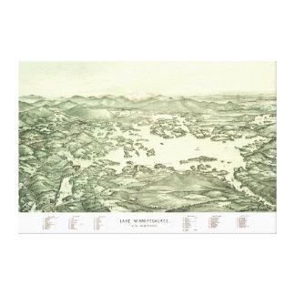 Karte von See Winnipesaukee ab 1903 Leinwanddruck