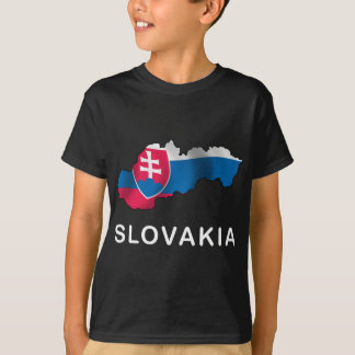 Karte von Slowakei T-Shirt