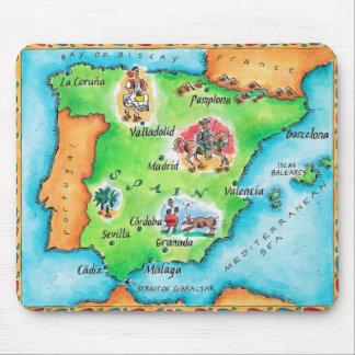 Karte von Spanien Mauspads