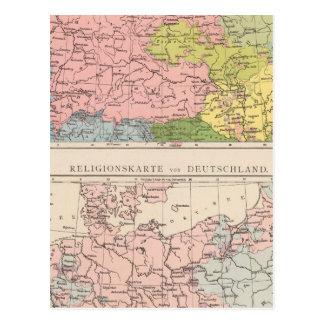 Karte von Sprachen und von Religionen in