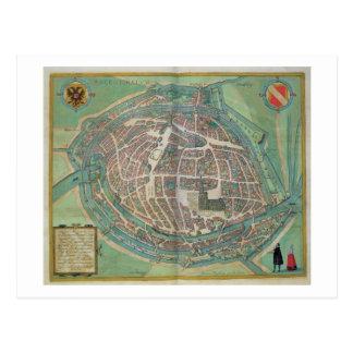 Karte von Straßburg, von 'Civitates Orbis Terrarum