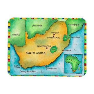 Karte von Südafrika Eckige Magnete