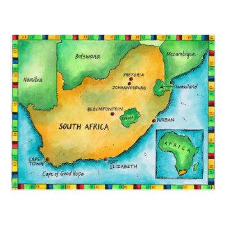Karte von Südafrika Postkarte