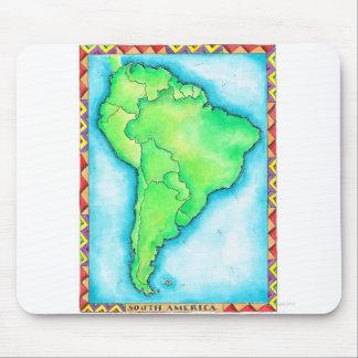 Karte von Südamerika 2 Mauspads