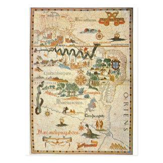 Karte von Südamerikapostkarte 1558
