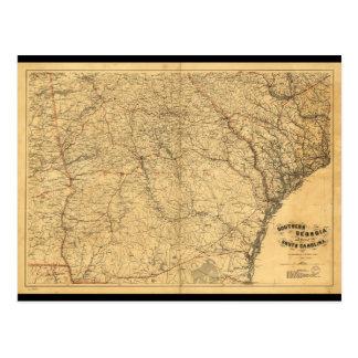 Karte von Südgeorgia und Teil von South Carolina