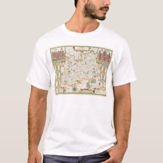 Karte von Surrey, graviert von Jodocus Hondius T-Shirt