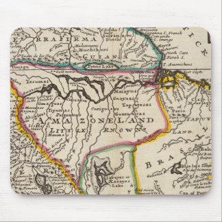 Karte von Terra Firma, Peru, Amazone Land, Brasili Mauspad