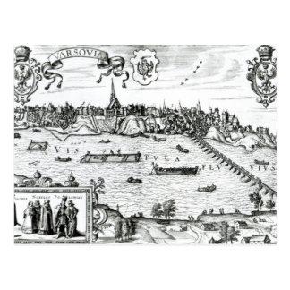 """Karte von Warschau, von """"Civitates Orbis Terrarum"""""""