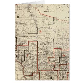 Karte von Wisconsin