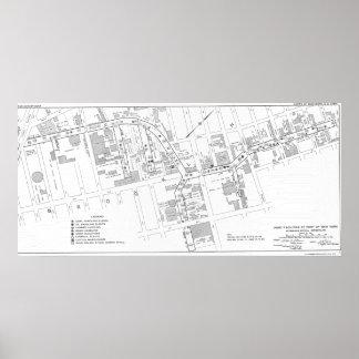Karte WW2 von Gowanus auf dem Plakat-Papier (Matt) Poster