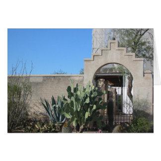 Karten-Auftrag San Xavier Del Bac Courtyard Karte