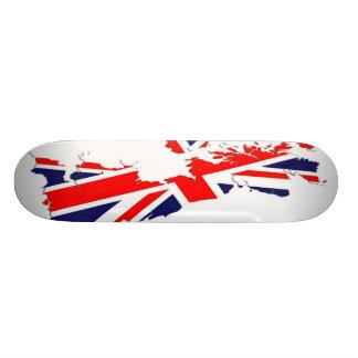 Karten-BRITISCHES Flaggen-Skate-Brett 19,1 Cm Old School Skateboard Deck