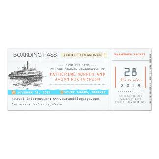 Karten des Kreuzfahrt-Boarding-Durchlaufs Save the 10,2 X 23,5 Cm Einladungskarte
