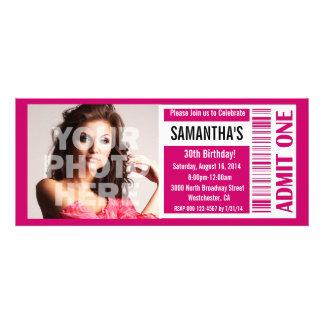 Karten-Einladungen rosa Karte