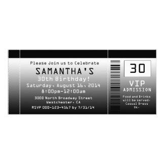 Karten-Einladungen schwarz + Weiß