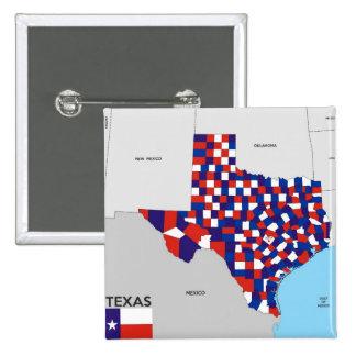 Karten-Formflagge Amerika Texas-Staat politische Anstecknadelbuttons