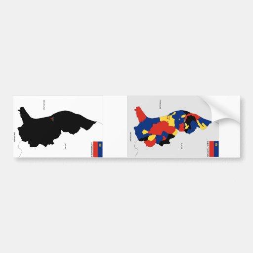 Karten-Formflagge Liechtenstein-Landes politische Autosticker