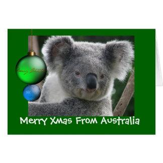 Karten-fröhliches Weihnachten von Australien-Koala Karte