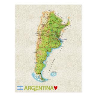 KARTEN-POSTKARTEN ♥ Argentinien Postkarte